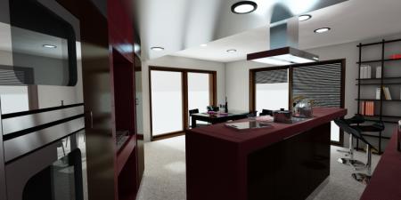 cuisine design modélisée en 3d
