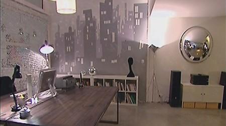 Un loft relook dans d co journal du loft for Peinture murale argentee