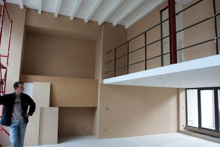 loft avec des murs en medium MDF