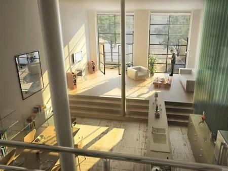 plateau loft aménagé à Lille