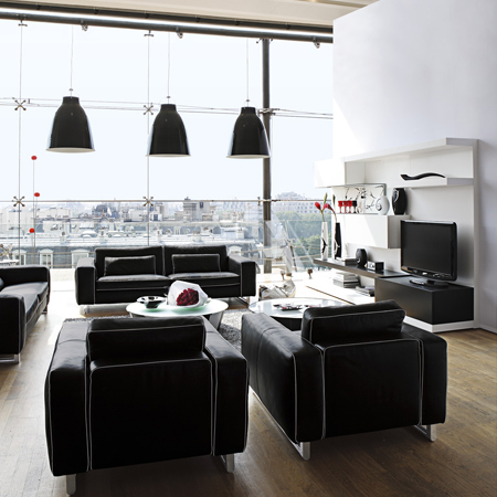 deco ambiance loft chez roche bobois journal du loft. Black Bedroom Furniture Sets. Home Design Ideas
