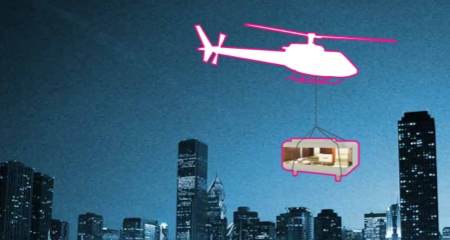 loft cube hélicoptère