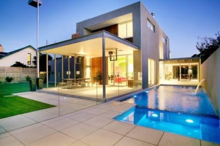 Maison esprit loft de luxe melbourne journal du loft for Maison en u avec piscine