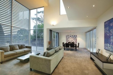 Salon de la maison loft de luxe à Melbourne