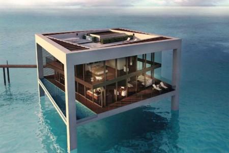 maison loft construite sur l'eau