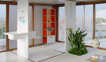 salle de bain en corian Loft cube
