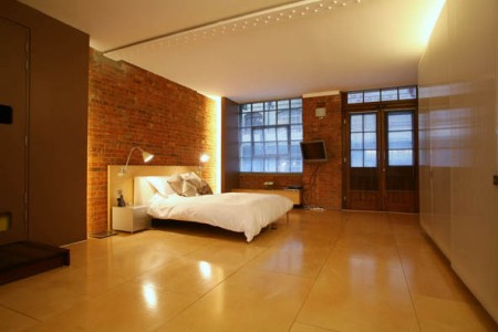 The factory loft Londres chambre design