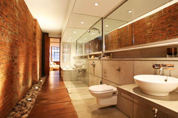 The factory loft londres salle de bain journal du loft - Salle de bain loft ...