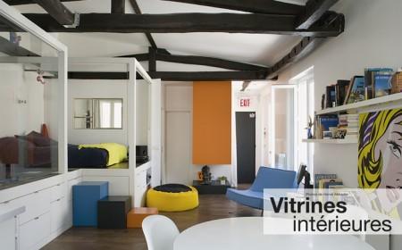 Vitrine intérieure loft - architecture à vivre