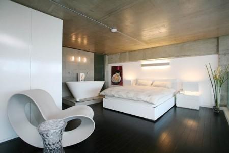 chambre loft à Londres Union Wharf avec fauteuil voido