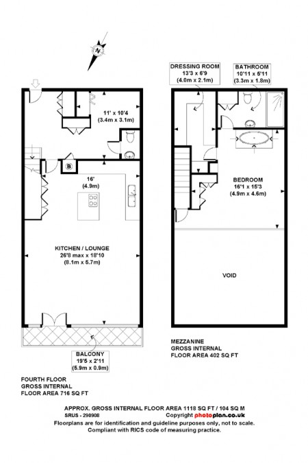plan d'un loft design à Londres