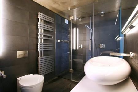 Salle de bain design loft à Londres Union Wharf