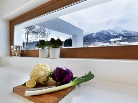 Cuisine avec vue panoramique de la maison Horizontal space