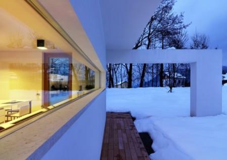 Vue extérieure de la maison Horizontal space