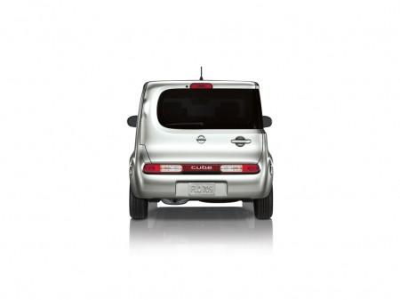 Arrière asymétrique de la Nissan cube