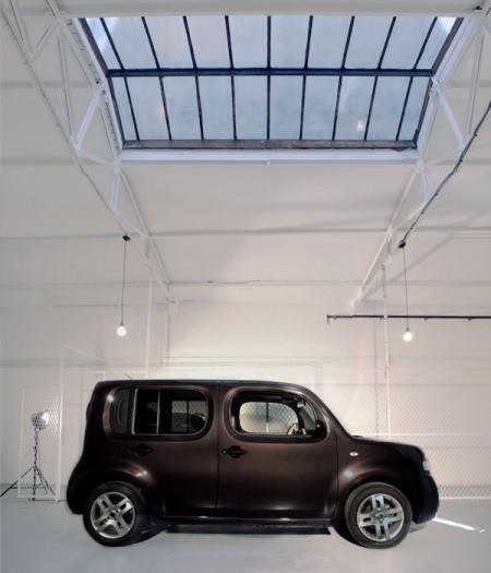 Nissan cube dans un loft