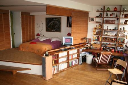 La chambre du loft à Montreuil 93
