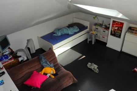 La 1ère chambre au 2ème étage du loft