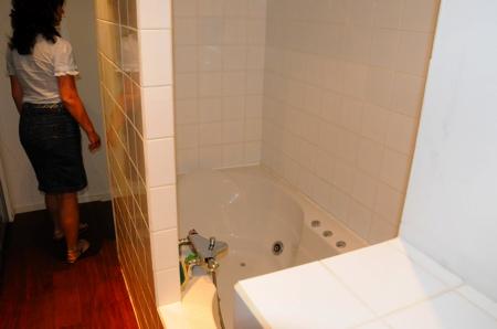 Salle de bain du loft avant travaux