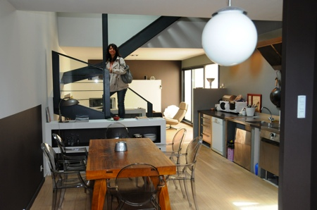 Le salon du loft avant travaux