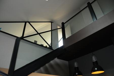 Vue sur le 2ème étage du loft