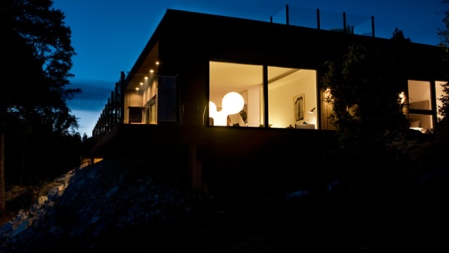 Maison en bois Nexthouse de nuit