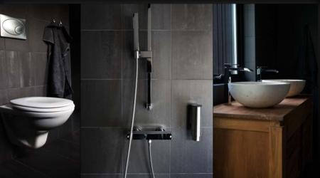 Salle de bain design de la maison bois Next house
