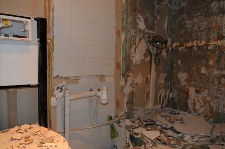 Casse de la salle de bain du 1er étage