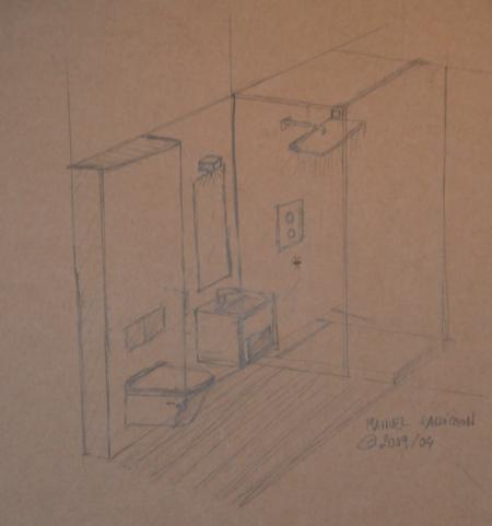 plan de la salle de douche journal du loft