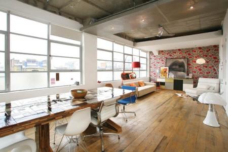 Loft open space londres journal du loft for Parquet salle a manger pour deco cuisine