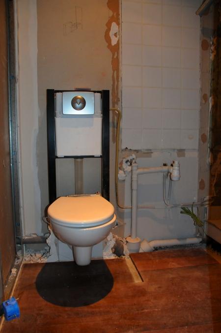 Les WC après nettoyage
