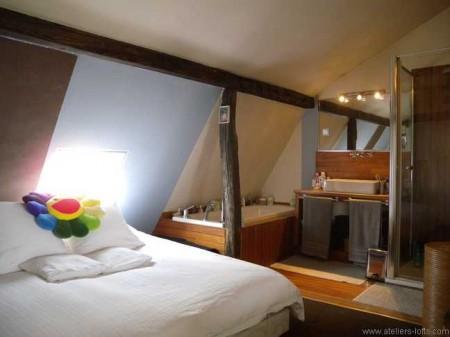 atelier d artiste avec mezzanine paris 17 journal du loft. Black Bedroom Furniture Sets. Home Design Ideas