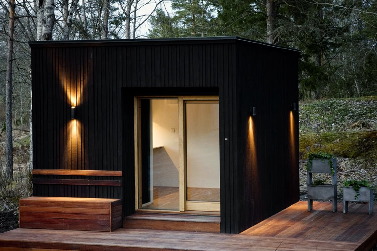 nexthouse xxs une petite maison en bois de 5000 euros journal du loft. Black Bedroom Furniture Sets. Home Design Ideas