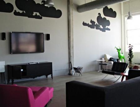 Salle détente Twitter office