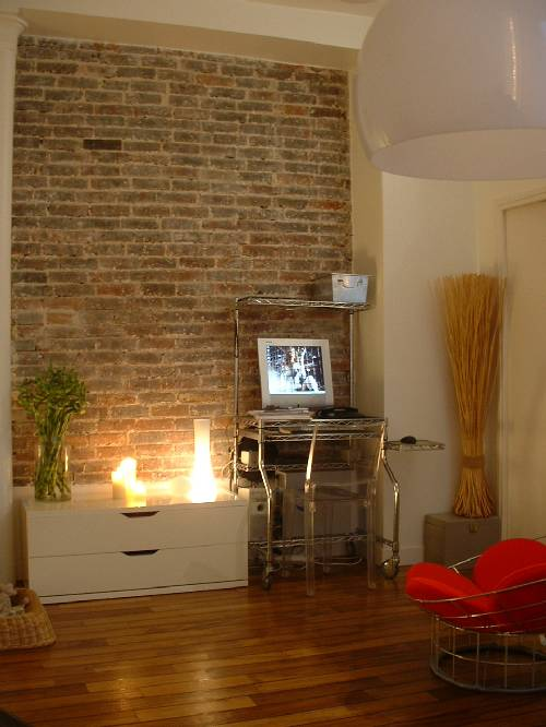 Mur en brique style new yorkais dans un loft paris journal du loft - Appartement style new yorkais ...