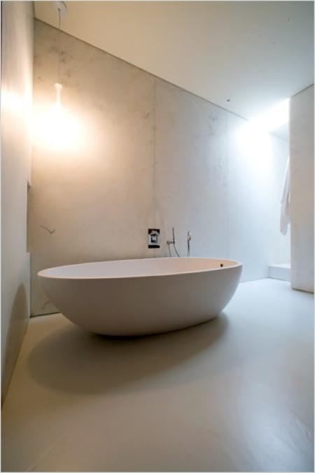 Salle de bain du loft à Soho