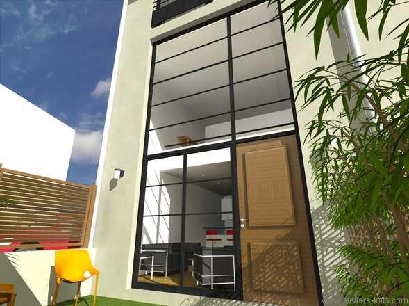 loft avec fa ade en verre gentilly journal du loft. Black Bedroom Furniture Sets. Home Design Ideas