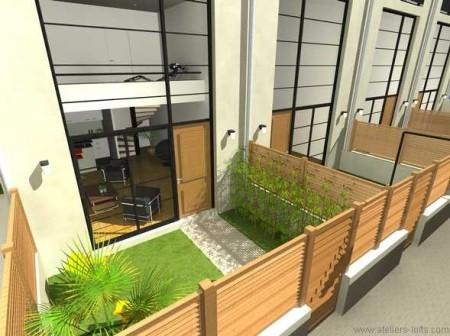 Loft à Gentilly avec jardin