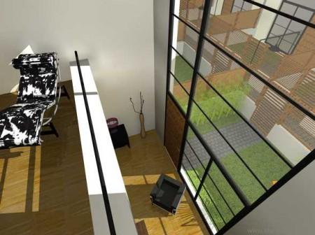 Mezzanine d'un loft à Gentilly