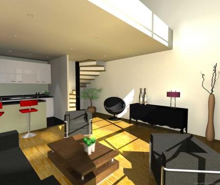 Photo du salon d'un loft à Gentilly