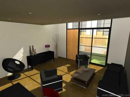 Salon d'un loft à Gentilly