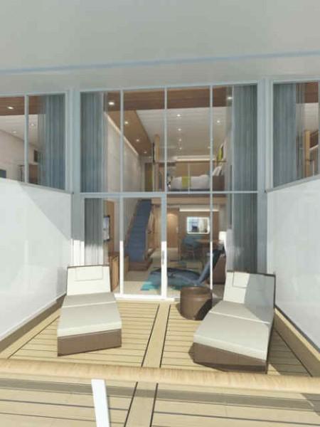 Terrasse du loft suite Oasis of the seas