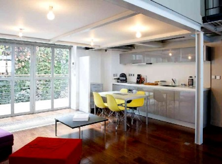 Cuisine design dans un loft à Paris