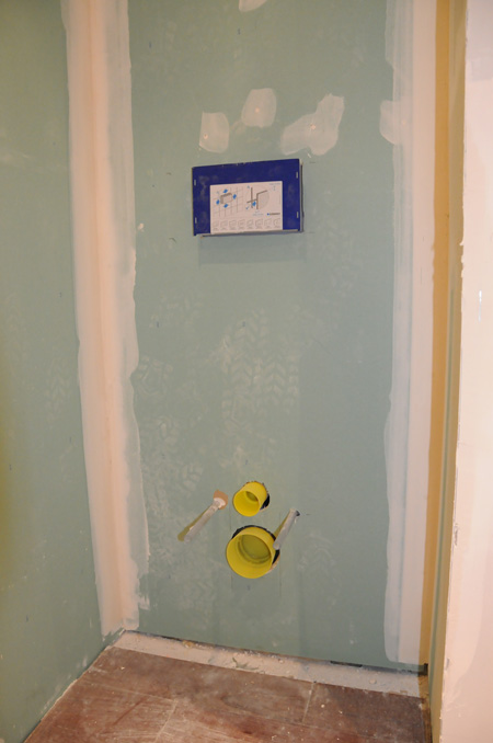 Placos plâtres hydro dans les WC