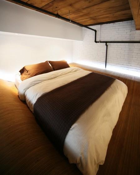 Petit loft à Montréal - lit mezzanine