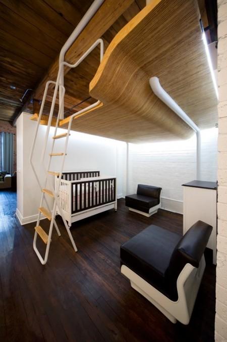 Petit loft au Québec avec mezzanine
