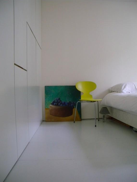 Loft avec un rangement intégré dans la chambre