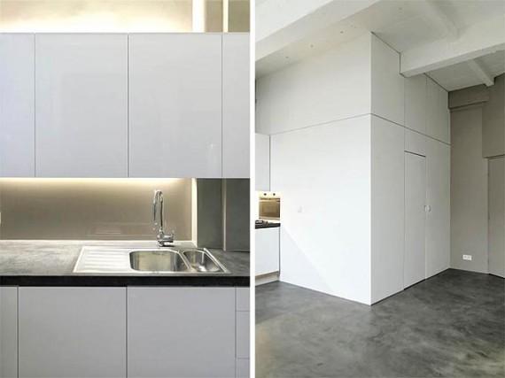 Loft Two boxes : cuisine et salle de bain