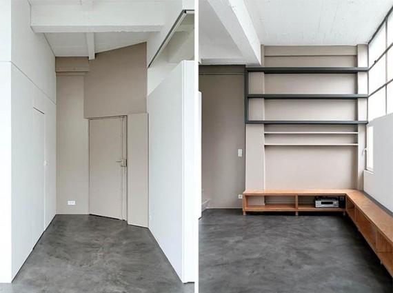 Two boxes loft : entrée
