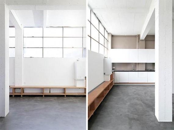 Two boxes loft : salon